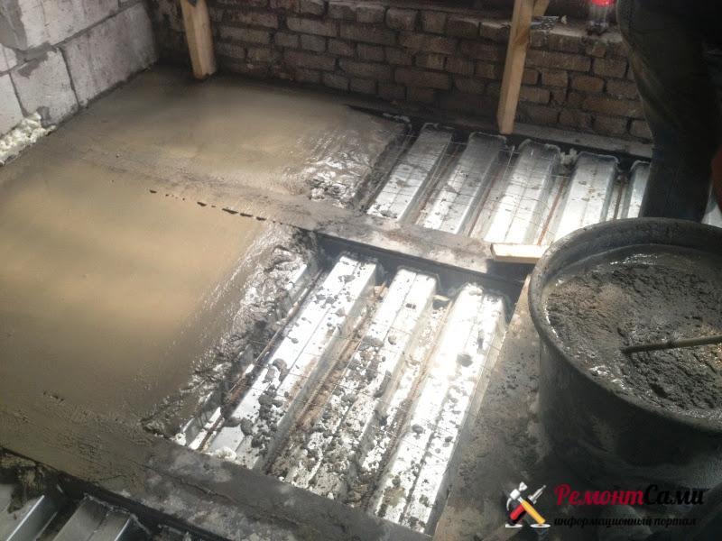 Плита перекрытия, сделанная на месте
