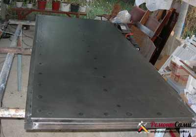 Изготовление полотна металлической двери