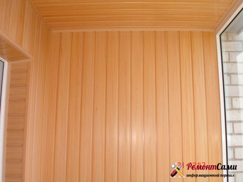 Обшивка панелями из дерева или пластика