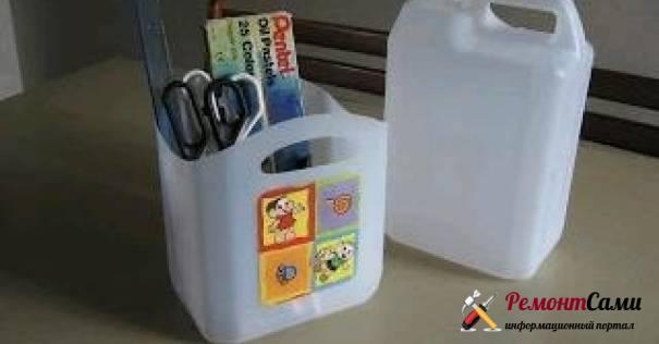 переносной емкости для грунтовки/краски из пластиковой бутылки с ручкой
