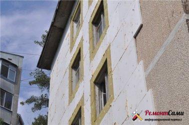 Пошаговое описание работ при утеплении фасада пенопластом