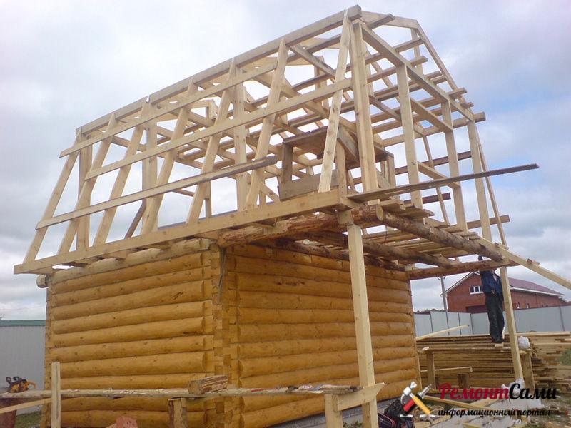постройка крыши своими руками