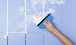 Затирка швов плитки в ванной комнате
