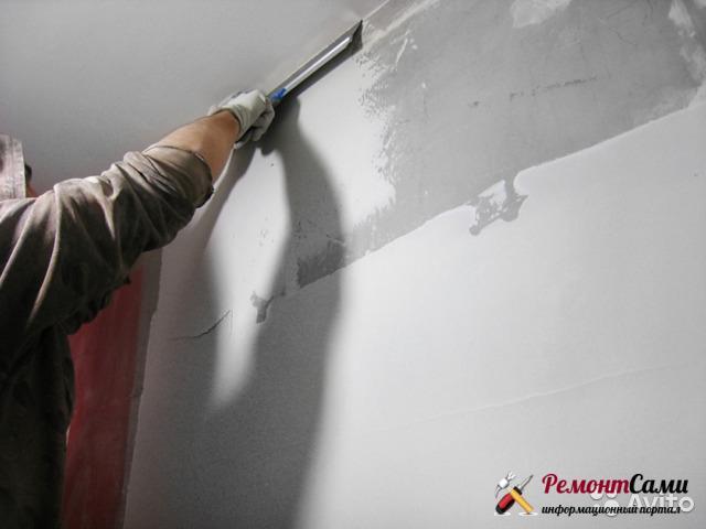 Шпатлевание стен перед покраской