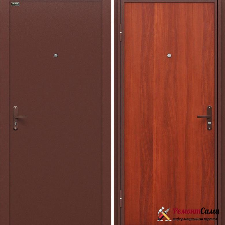 Стальная дверь эконом-класса