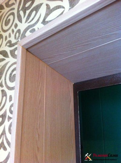 Отделка дверного проема панелями ПВХ