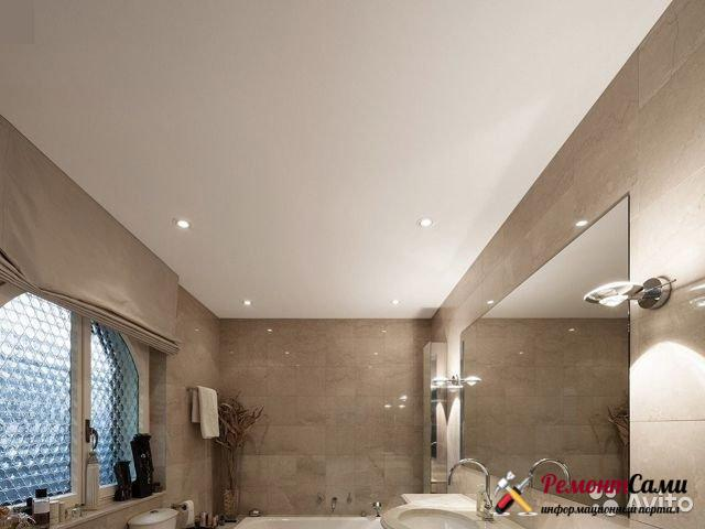Натяжные потолки в ванной: особенности, монтаж