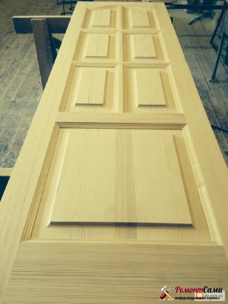 Изготовление массивной двери из сосны