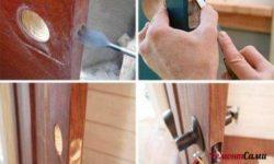 Как вставить замок-защелку с фиксатором в межкомнатную дверь