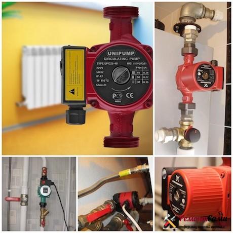 Замена насоса системы отопления