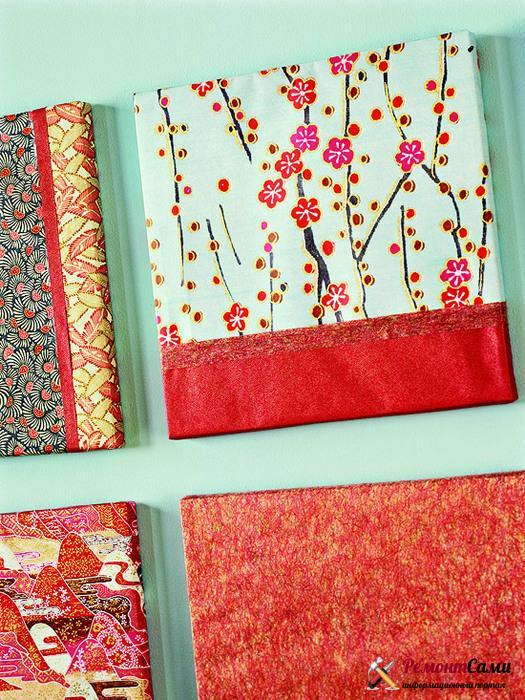 Ткани и бумага для декора