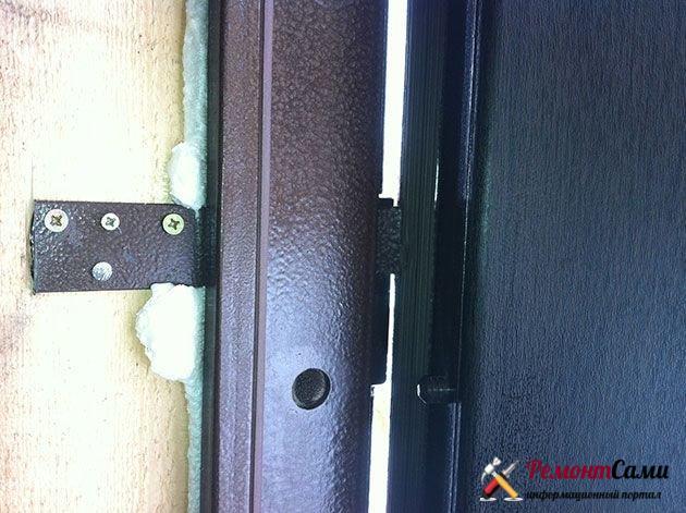 Пластины-крепеж для двери