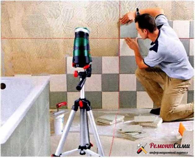 Работа с использованием лазерного уровня будет производительнее и качественнее, чем при использовании традиционного