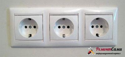 Блок-встроенных-электрических-розеток