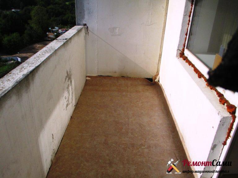 Гидроизоляция подготовка балкона
