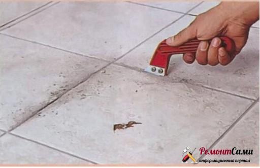 Как удалить поврежденную плитку, не задев соседние