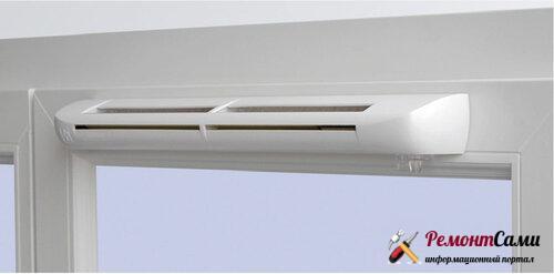 Вентиляционный клапан на ПВХ окно