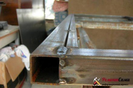 Дверная коробка из проф трубы