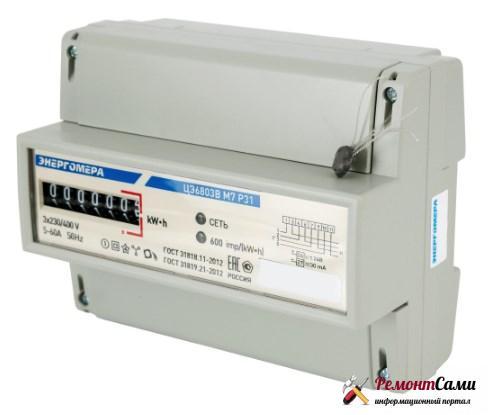 Энергомера ЦЭ6803В 1 230В М7 Р32 10-100А, трехфазный