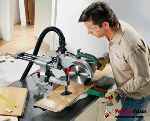 Торцовочные пилы используют для поперечного разила длинных заготовок как под прямым, так и под произвольно выбранным углом.