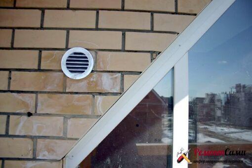 Наружные вентиляционные решетки принудительных приточных клапанов