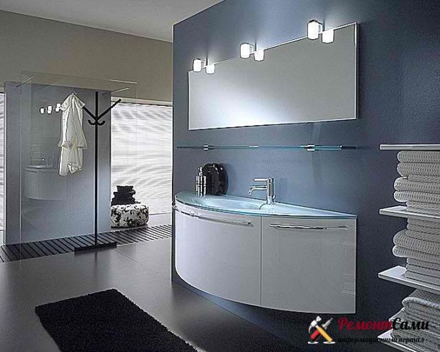 Дизайн просторной ванны