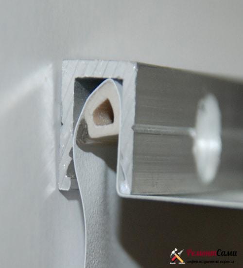 Профиль штапиковый ПВХ для натяжных потолков