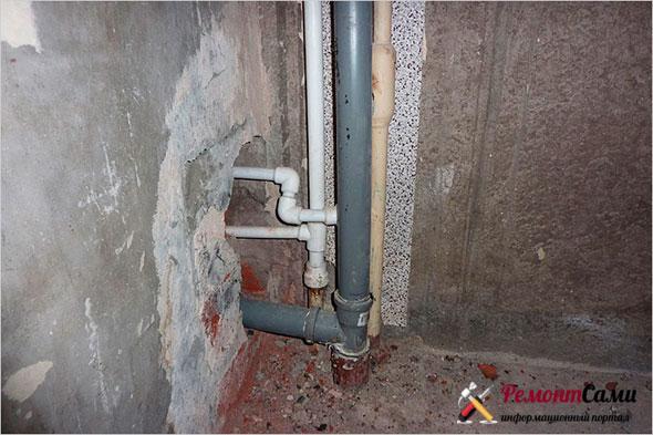 Подсоединение к канализационному стояку