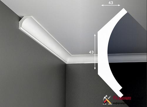 Крепление плинтуса на натяжной потолок