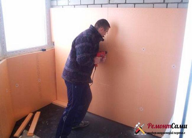 Отделка стен пенопластом внутри квартиры