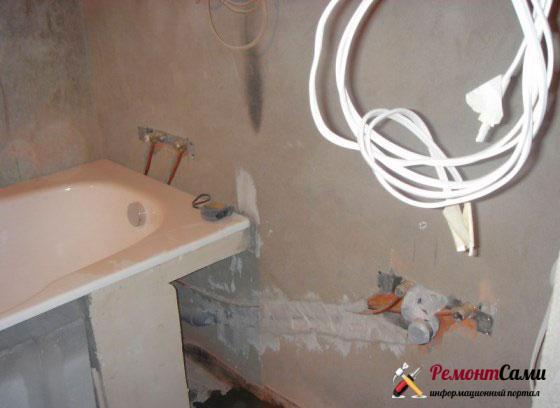 черновая отделка ванной