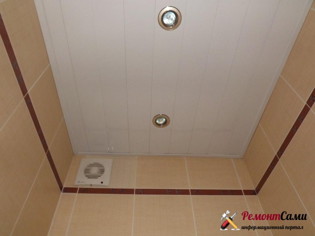 Ремонт потолка в санузле