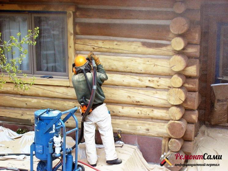 Обновление сруба дома своими руками