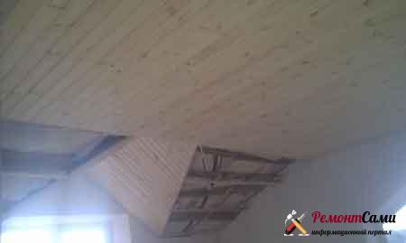 деревянный-потолок-вагонка