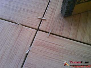 Ширина крестиков для укладки плитки 30*30