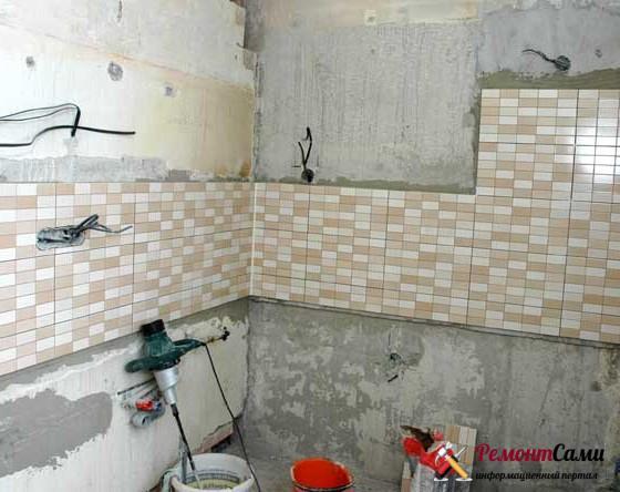 Электротехнические работы при ремонте маленькой кухни