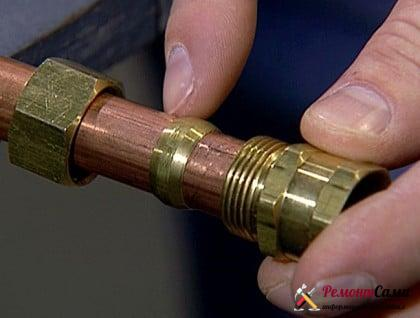 компрессионный фитинг для медных труб