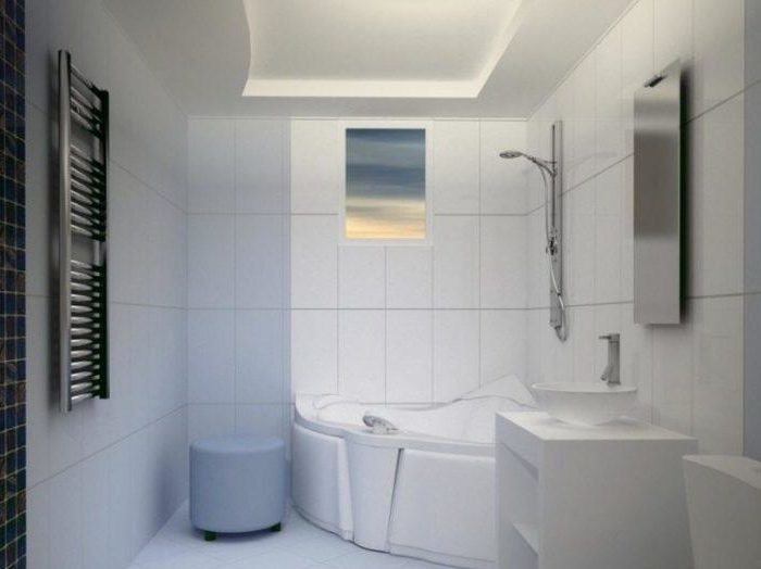 Потолок гипсокартонный в ванной