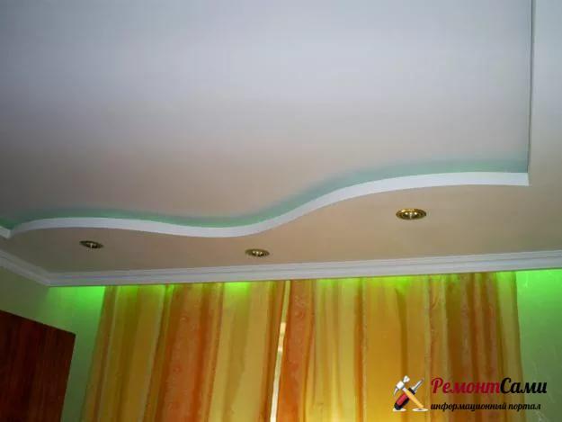 Подвесной потолок, выполненный из гипсокартона