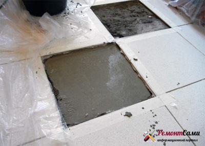 Как отремонтировать плитку на полу не снимая все покрытие