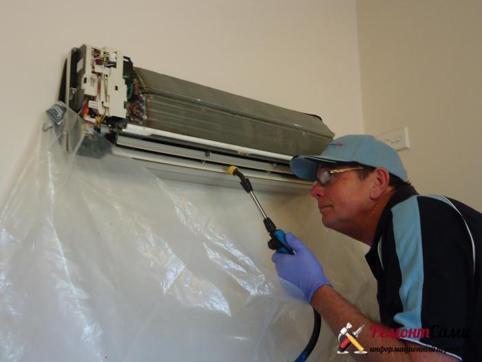 Использование пленки для защиты пола помещения от моющих средств и грязи из кондиционера