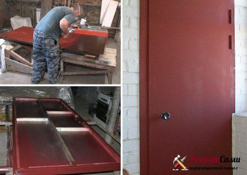 Реставрация металличекой двери