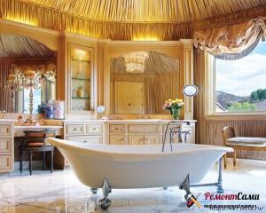 Красивая ванна на оригинальных ножках