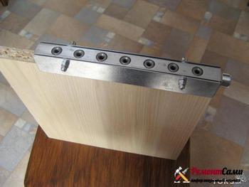 Шаблон (кондуктор) для сверления отверстий под шканты