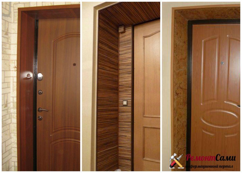 Как отделать откосы входной двери