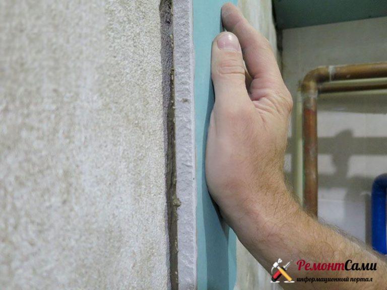 Монтаж гипсокартона к стене без профилей