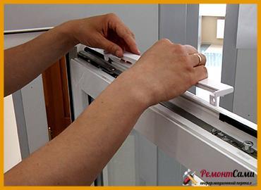 Монтаж вентиляционного клапана на пластиковое окно