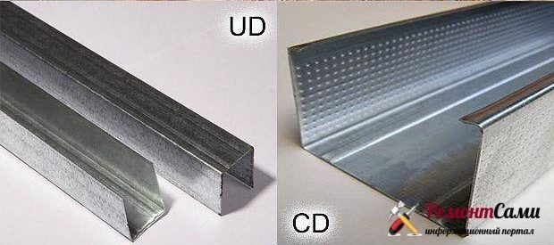 CD и UD профили гипсокартона