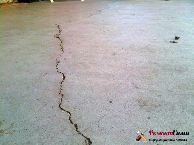 трещины ремонт бетонный пол