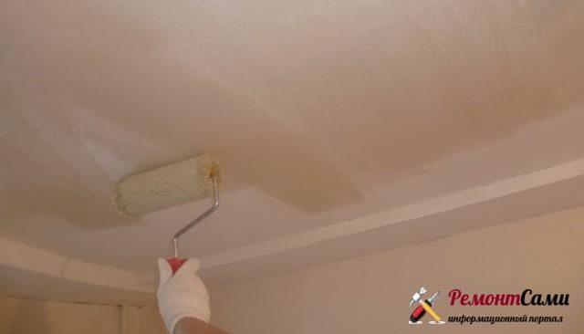 Чем красить гипсокартонный потолок
